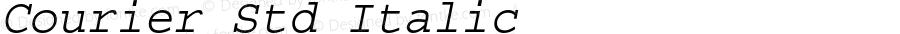 Courier Std Italic Version 2.067;PS 2.000;hotconv 1.0.67;makeotf.lib2.5.33168