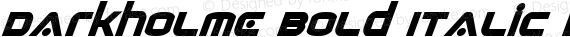 Darkholme Bold Italic Bold Italic preview image