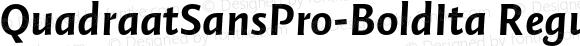 QuadraatSansPro-BoldIta Regular Version 7.504; 2011; Build 1023
