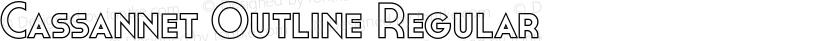 Cassannet Outline Regular Preview Image