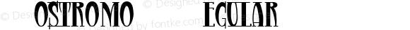 Nostromo Regular Fontographer 4.7 12/19/11 FG4M0000001083
