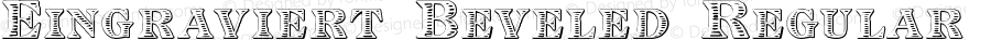 Eingraviert Beveled Regular Version 1.000 2011 initial release