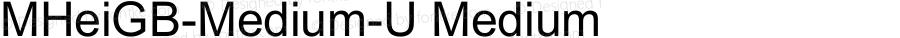 MHeiGB-Medium-U Medium 2.50