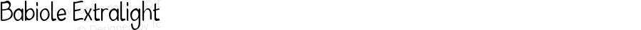 Babiole Extralight Fontographer 4.7 4/01/12 FG4M0000002045