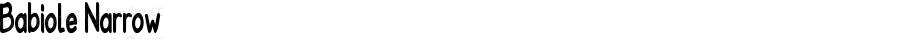 Babiole Narrow Fontographer 4.7 4/01/12 FG4M0000002045
