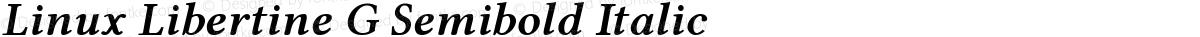 Linux Libertine G Semibold Italic