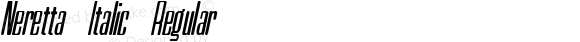 Neretta Italic Regular Version 1.000 2012 initial release