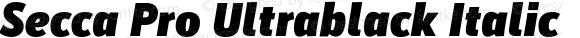 Secca Pro Ultrablack Italic