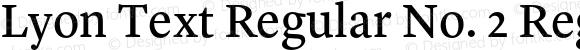 Lyon Text Regular No. 2 Regular Version 1.002;PS 001.002;hotconv 1.0.57;makeotf.lib2.0.21895