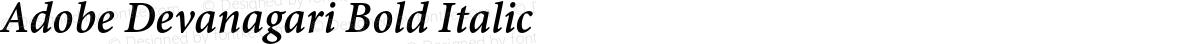 Adobe Devanagari Bold Italic