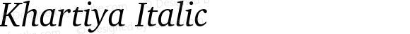 Khartiya Italic