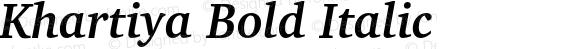 Khartiya Bold Italic
