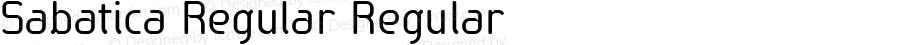 Sabatica Regular Regular Version 3.000 2012 initial release