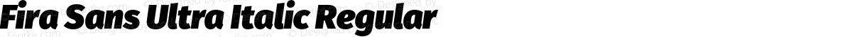 Fira Sans Ultra Italic Regular