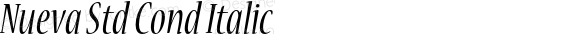 Nueva Std Cond Italic Version 2.081;PS 002.000;hotconv 1.0.67;makeotf.lib2.5.33168