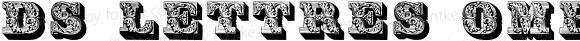 DS Lettres ombées ornées Regular Version 2.001 2012
