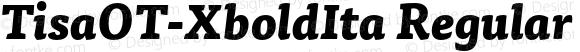 TisaOT-XboldIta Regular Version 7.504; 2010; Build 1023
