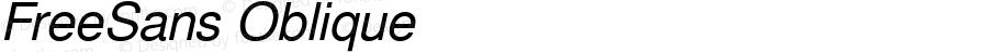 FreeSans Oblique Version 0412.2261