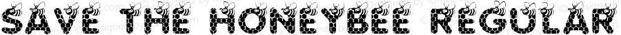 SAVE THE HONEYBEE Regular Version 1.005 © KiddieFonts for Charity Fonts 2012