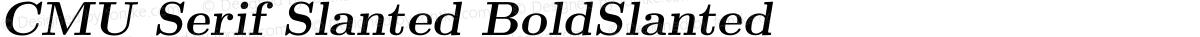 CMU Serif Slanted BoldSlanted