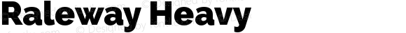 Raleway Heavy