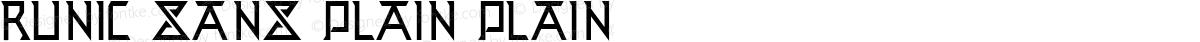 Runic Sans Plain Plain