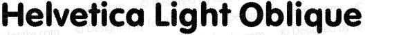 Helvetica Light Oblique