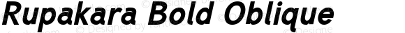 Rupakara Bold Oblique