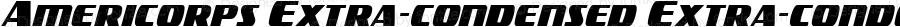 Americorps Extra-condensed Extra-condensed Version 1.0; 2012