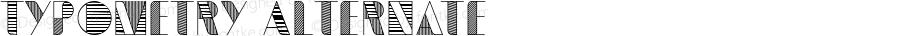 Typometry Alternate Version 1.000