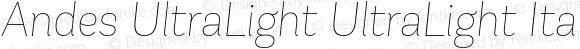 Andes UltraLight UltraLight Italic