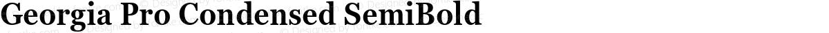 Georgia Pro Condensed SemiBold