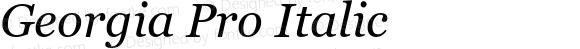 Georgia Pro Italic