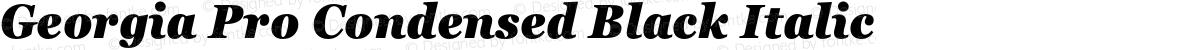 Georgia Pro Condensed Black Italic