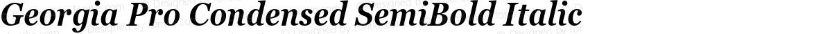 Georgia Pro Condensed SemiBold Italic