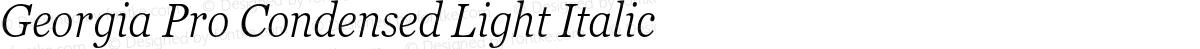 Georgia Pro Condensed Light Italic