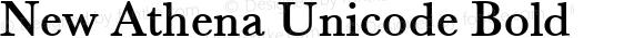 New Athena Unicode Bold
