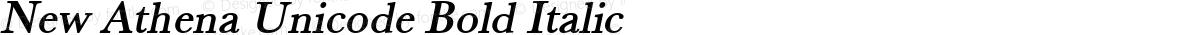 New Athena Unicode Bold Italic