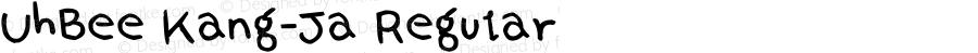 UhBee Kang-Ja Regular Version 1.00 April 25, 2012, initial release