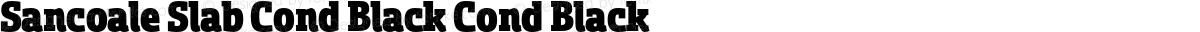 Sancoale Slab Cond Black Cond Black