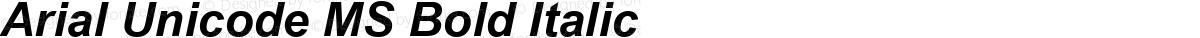 Arial Unicode MS Bold Italic
