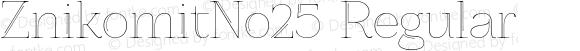 ZnikomitNo25 Regular Version 0.551