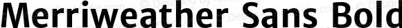 Merriweather Sans Bold