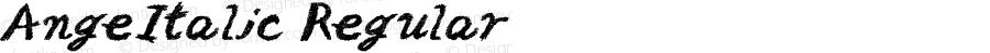 AngeItalic Regular Fontographer 4.7 12.8.31 FG4M0000002045
