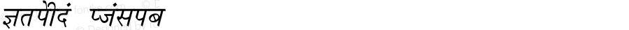 Krishna Italic Converted from C:\LBFCD\LYS_FONT\KRISHNA.TF1 by ALLTYPE