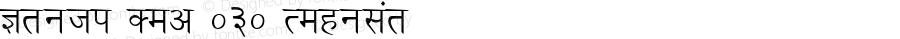 Kruti Dev 030 Regular 1.0 Fri Apr 04 17:49:40 1997