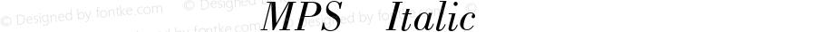 方正科技符号MPS Italic 1.0