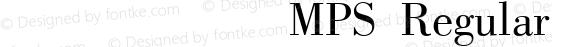 方正科技符号MPS Regular 1.0