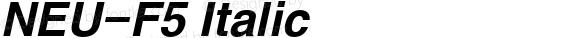 NEU-F5 Italic preview image