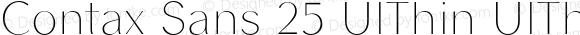 Contax Sans 25 UlThin UlThin